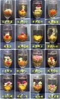 Wholesale 16 Chinese Artistic flowering tea ball Blooming Tea Bulk green jasmine tee