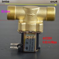 Wholesale 1 quot Full Metal DC V DC V AC V Electric Solenoid Valve Water Air Flow Switch