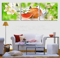 best kitchen pictures - 3Panels modern kitchen art Picture Painting Combination Modern Canvas Paint best HAPPY life oil paintings of fruits Art Wall