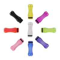 Wholesale Good price EGO Plastic Drip Tips Mouthpiece transparent Colorful for EE2 Vivi Nova DCT T4 Electronic Cigarette Clearomizer