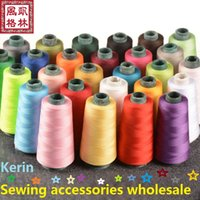 sewing thread - 42 colors Volume yard High quality sewing thread high speed polyester thread professional and retail