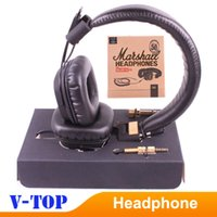 Cheap 2pcs lot Marshall 50 FX 50th Anniversary Headphones Limited Edition Black Color with Gold Words HK free ship