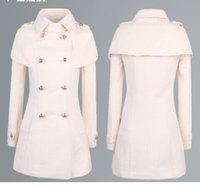 Wholesale 1PCS beige Woolen coat woolen shawl Cape coat women jacket women Blazer Women jackets women knitwear women outwear