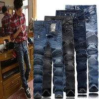 Wholesale balmain jeans jeans for men patched true jeans robin jeans for men boy Relative to the robin jeans for men more fashionable and more