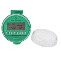 Wholesale Green English Version LCD Home Digital Electronic Intelligence Water Timer Garden Irrigation Controller Water Programs System