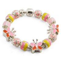agate jewelery - HOT SALE Silver Russia Style Charm Chamilia Bracelets With Butterfly Charm For Women Fashion Bijoux Jewelery PA1226