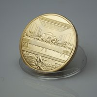 artists collection - Deal Jesus Collection Famous Artist Da Vinci The Last Supper gold plated Coin Matel Craft