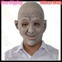 animated funny face - Halloween Funny Party Cosplay Oldman Face Mask Smiling elder man face mask animated latex mask fancy party Mask