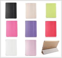 al por mayor caso del ipad del tirón duro-3 pliegue la cubierta dura elegante del caso del tirón de Patten de la cubierta elegante del caso para el iPad 2 3 4 5 5 Air Air2 Mini Mini2 Mini3 con el soporte de la estela del sueño