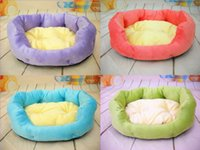 Wholesale Hot Candy Color Warm Soft Square Bed For Pet Dog Cat Puppy Dog House Cushion Bed Pet Nest SML