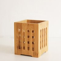 Wholesale Bamboo Tableware Holder Box Spoon Chopsticks Storage Container Kitchen Tool home decoration storage novelty items
