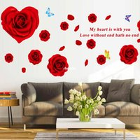 cálidamente decoradas etiquetas de la pared de estar sala de TV sofá de fondo la decoración del dormitorio de la pared removible dormitorio pegatinas subieron AY9181