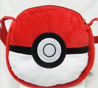 abs backpacks - 2016 Cute Anime Pikachu Pokeball cm Kids Backpack Bag Soft Plush Doll Toy