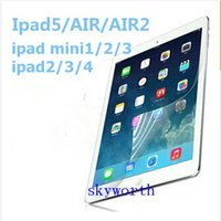 Cheap LCD Screen Protector for ipad air2 clear firm guard for ipad 2 3 4 5 6 air Mini mini2 retina front in case protectors 9.7 inch tablet pc acc