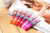 Wholesale 2015 Lip Gloss Peel off Lasts For h No Stain Marine Collagen Lipstick Balm Plant Romantic Bear Colors Makeup Moisturizing box