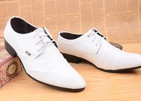 men dress shoes white leather - san New Men Business Dress Shoes For Men Pointed Toe Leather Oxfords Shoes Men s White Black Leather Causal Shoe