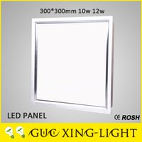Wholesale 2016 NEW W W W W Aluminum Panel Lights CRI SMD2835 Downlight Square lamp Brushed silver AC85 V CE RoHS