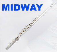 Wholesale MIDWAY MFL C Hight Quality flute musical instrument hole Closed e key c flute musical instrument