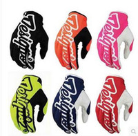 Wholesale Motocross gloves TLD Motocross Gloves Motorcycle MTB BMX Motocicleta Guantes TroyLeeDesigns outdoor Cycling Gloves Multi Colors
