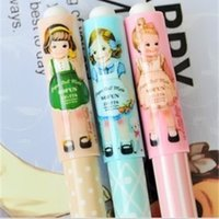 Wholesale NEW Korea style Stationery cute paper doll girl design gel pen mm Promotion Fashion Gift