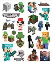 Wholesale New Minecraft Sticker Minecraft Creeper Steve and all others character sticker