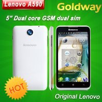 Wholesale Original Lenovo A590 Mobile phone inch x480px MTK6517 Dual Core Android MB GB ROM GPS Play store