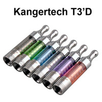 Cheap Kanger T3D Clearomizer Kangertech T3'D Replaceable Dual Coil eGo 510 Thread Eliquid Vaporizer Tank Mix Colors VS T3S Atomizer