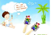 baby xylophone - 2015 baby rattles colorful hand bells boy and girls wooden toys factory price