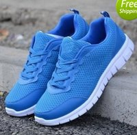 Wholesale NEW Leisure Breathable men s Mesh gray shoes Leisure Sport shoes Women Running shoes eu size