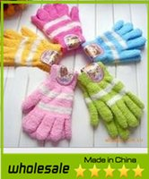 Wholesale Hot Sale Mix Colors New Fashion Women Striped Winter Gloves Warm Coral Cashmere Gloves for Christmas Gifts
