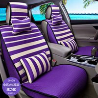 Wholesale Brand New Season Soft Dacron Massage Bead Car Seat Cover Set for Seats Cover Universal Cars Green Purple Brown Khaki