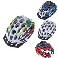 Wholesale 41 Vents MTB Road Race Hero Mountain Bike Bicycle EPS PC Cycling Safety Helmet with Visor g Adult White Blue Red Colorful