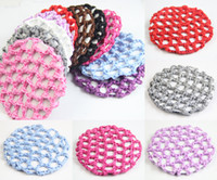 Wholesale 20 Bun Cover Snood Hair Net Ballet Dance Skating Crochet Beautiful Colors