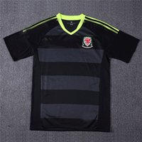 Wholesale Thailand Quality Soccer Wales jerseys Away Black Color camiseta de futbol survetement football shirt