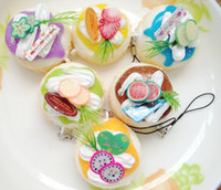 kawaii - 30pcs cm kawaii christmas jumbo squishy phone bag charm cake soft buns phone charms wholesales
