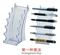Wholesale Transparent Plastic Pen Holders Desk Pen Stand Pen Display Cosmetic Display Eye Pencil Display