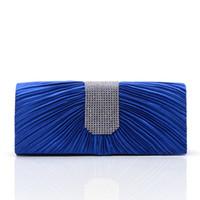 Wholesale Michael Korse Handbags For Women Designers Royal Blue Silk Rhinestones Bridal Clutch Evening Hand Bags Gorgeous Bridal Bridal Hand Bags