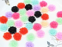 Wholesale 300pcs Mixed Resin Cabochon Flowers mm Rose flower kit Great for bobby pin blank ring Earring pendant DIY Cell Phone Deco