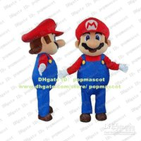 Wholesale Vivid Super Mario Man Wearing Red Coat Mascot Costume Mascotte Adult Cartoon Character Party Outfit Suit No