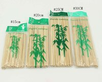 Wholesale BBQ bamboo signed natural grilled lamb skewers prod sign floral sign barbecue needle