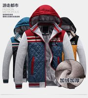 Wholesale Influx of European and American men s cotton jacket mixed colors thicker sweater jacket Slim
