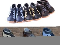 Wholesale EMS free Boys boots genuine leather velvet high cut sneakers navy blue black brown for early spring and deep autumn early winter