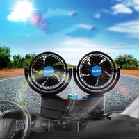 Wholesale 2 Modes Speed Control V Double Side Portable Air Conditioner Car Fan Vehicle Cooling Air Fan Oscillating Fan