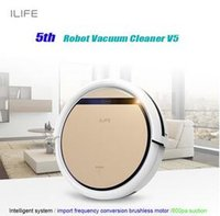 best hepa air cleaners - DHL Freeshipping best smart ROBOT ASPIRADOR Smart Wet Robot Vacuum Cleaner Wet and Dry Clean MOP Water Tank HEPA Filter Ciff Sensor