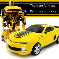 Wholesale New for Red Jia Qi TT663 Robort Minions electric Transformation Remote Control RC Car