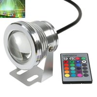 Wholesale New W LM RGB Waterproof Fountain LED Light Colors Changing w IR Remote