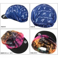 Wholesale E1023 Outdoor sports summer riding cycling portable Sunscreen shade cloth cap flower printed hat