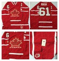 Cheap Mens #61 Nash Red 2010 Canada Team Vancouver Winter Olympic Hockey Jerseys Ice International Sports Stitched Premier Authentic Sports Cheap