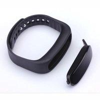 alarm clock apple - Waterproof Sports Wristband Smart Bracelet E02 With IP57 Level Calls Reminder Message Pushing Time Display Alarm Clock Black