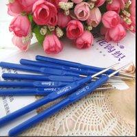 sewing needle - 8pcs mm Blue Plastic Crochet Hook Knit Knitting Needle Weave Craft Yarn